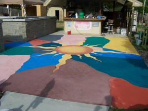 Concrete overlay contractor Indianapolis