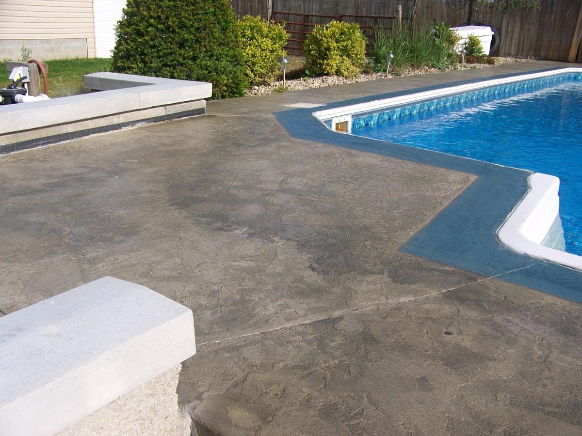 concrete overlay poolside