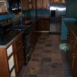 tile floor - kitchen remodel
